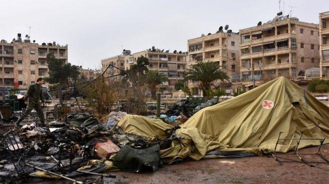 Aleppo. Source AFP, via BBC.